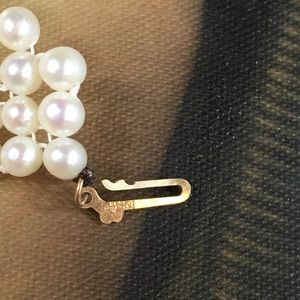 Jewelry - NWOT Freshwater Pearl Woven Necklace 10k